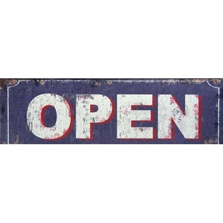 Open - Metal Sign