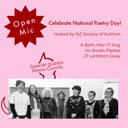 Open Mic Poetry: NZ Society of Authors