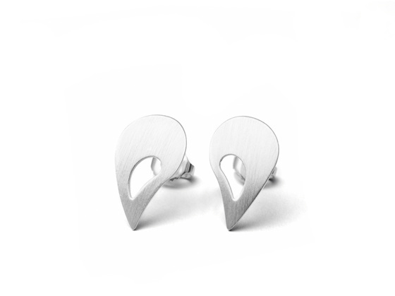 Open Paisley Post Earrings