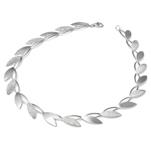 Open Petal Laser Necklace