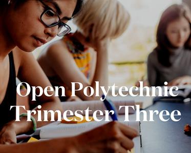 Open Polytechnic Trimester Three