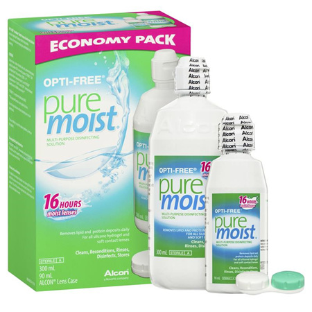Opti-Free Puremoist Contact Lens Multi-Purpose Solution Economy Pack