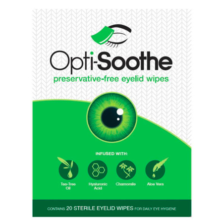 OPTI SOOTHE EYE LID WIPES