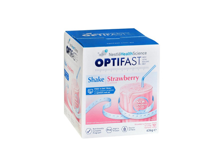 OPTIFAST Shakes Strawberry Meal Replacement 12x53g