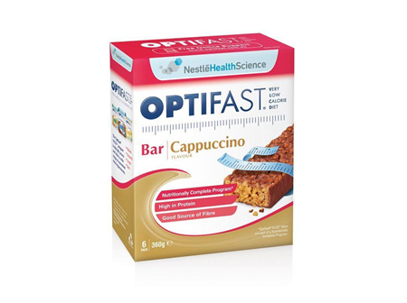 Optifast VLCD Bars - Cappuccino 6x65g