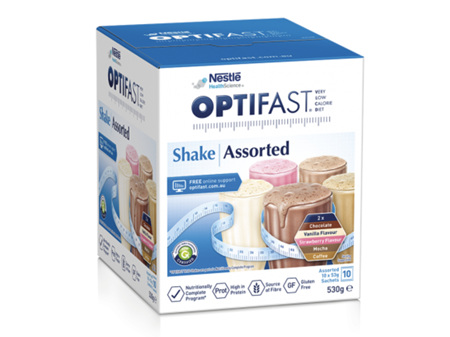 OPTIFAST VLCD Shake Assorted Flavours 10 Pack x 53g