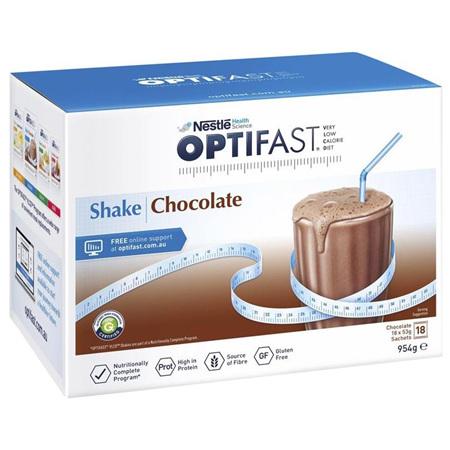 OPTIFAST VLCD Shake Chocolate - 12 Pack 53g Sachets
