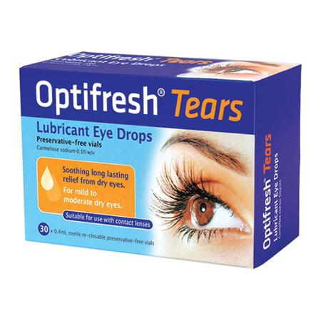 OPTIFRESH TEARS EYE DROPS 0.5% 30