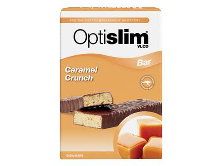 Optislim VLCD Caramel Crunch Bar 60g  X 5