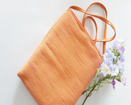 Orange Abaca Sling Bag
