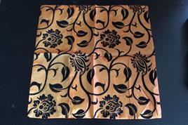 Orange & Black Shiny Cushion Cover