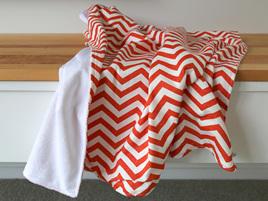Orange Chevron Blanket