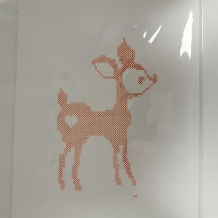Orange Deer Prints