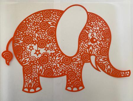 Orange Elephant Heat Press Vinyl