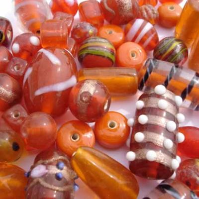 Orange Fancy Bead Mix