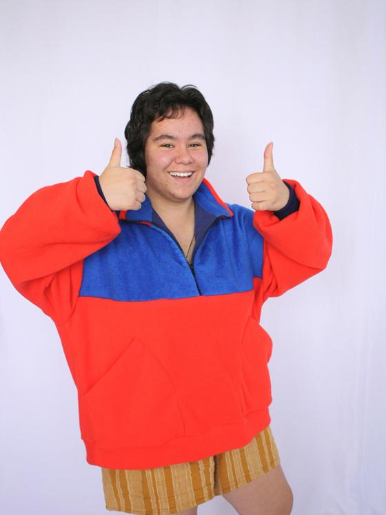 Orange Fleece Jacket
