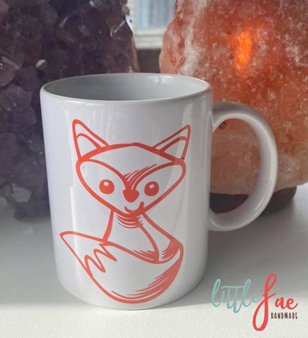 Orange Fox Vinyl Mug