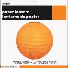 Orange Halloween Paper Lantern 25.4cm