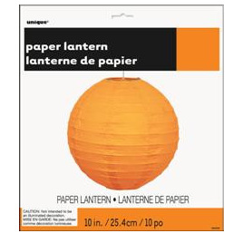 Orange Halloween Paper Lantern 25.4cm