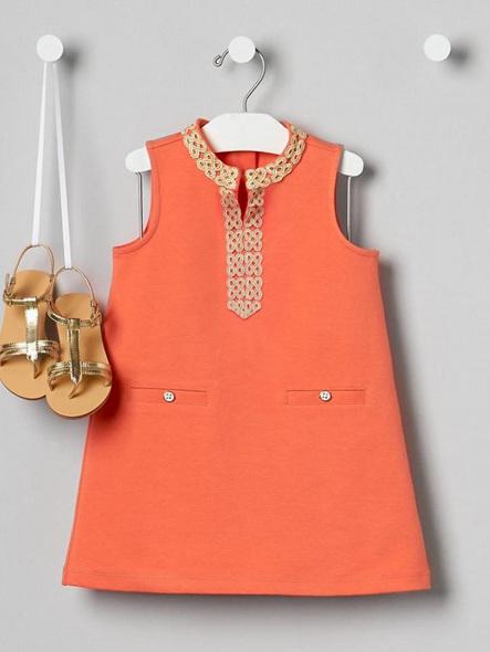 Orange knit Jaine and Jack dress