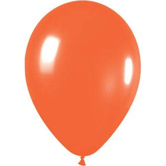Orange latex balloons x 10 pack