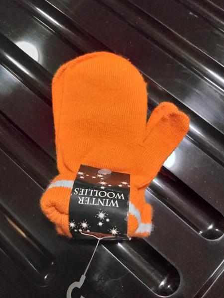 Orange Mittens