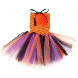 ORANGE MULTI TUTU DRESS SIZE 3-5YRS