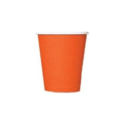 Orange Party Cups x 8