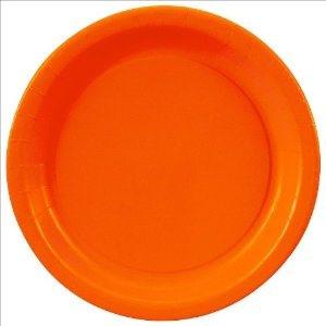 "Orange Plates x 8 7"""