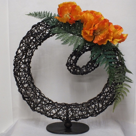 Orange Poppies on Rattan 2024