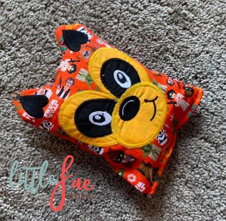Orange Racoon Animal Wheat Bag