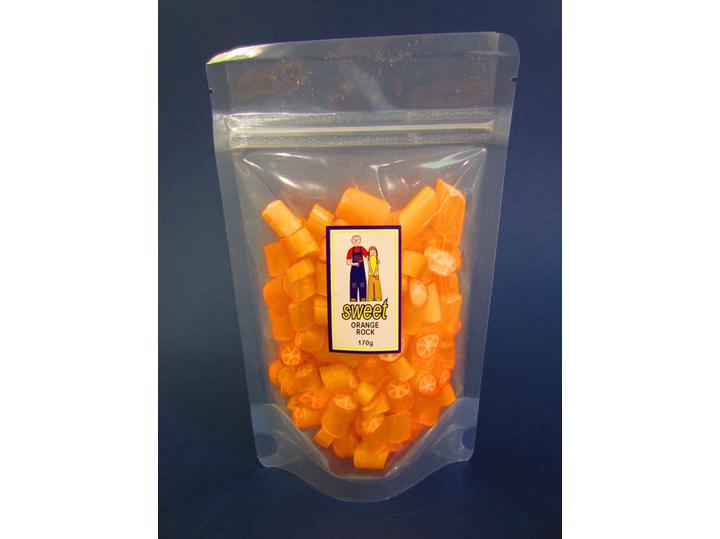 orange rock candy bag