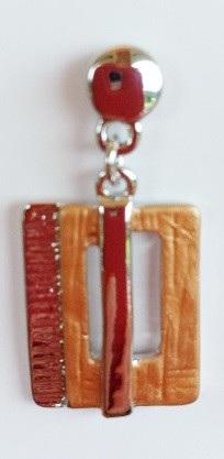 Orange Square earrings