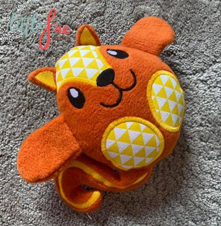 Orange Squirrel Soft Toy