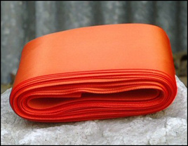Orange Wedding Car Ribbon