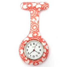 Orange & White Pattern Nurse Watch