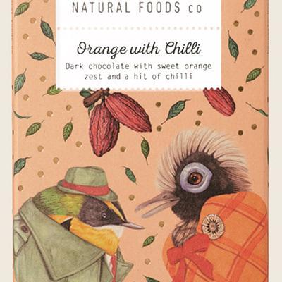 Orange with Chilli Dark 100g