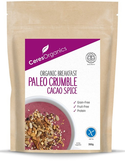 Organic Breakfast Paleo Crumble(Cacao Spice) - 350g