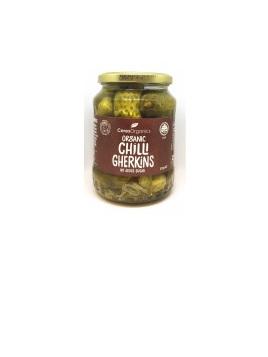 Organic Chilli Gherkins (no added sugar) - 670g
