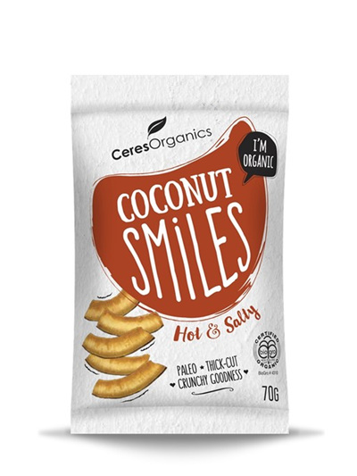 Organic Coconut Smiles (Hot & Salty) - 70g