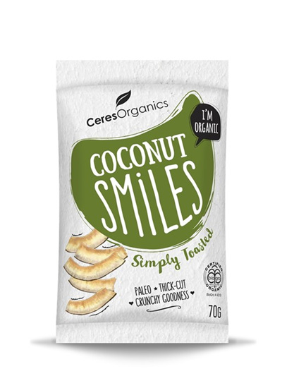 Organic Coconut Smiles (Simply Toasted) - 70g
