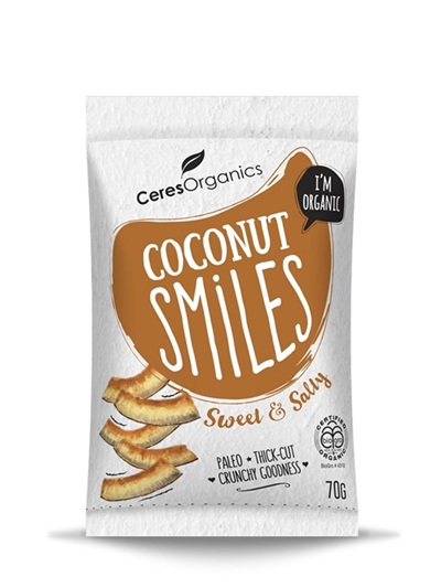 Organic Coconut Smiles (Sweet & Salty) - 70g
