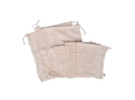 Organic Cotton Produce Bags 6pk