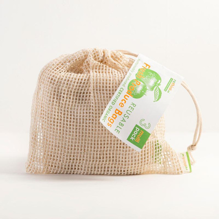 Organic Cotton Produce Bags - Multi Pack