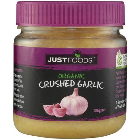 Organic Crushed Garlic 185gr