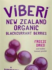 Organic Freeze Dried NZ Blackcurrants - 120g