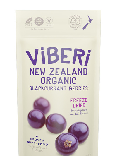 Organic Freeze Dried NZ Blackcurrants - 40g