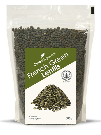 Organic Lentils (French Green) - 500g