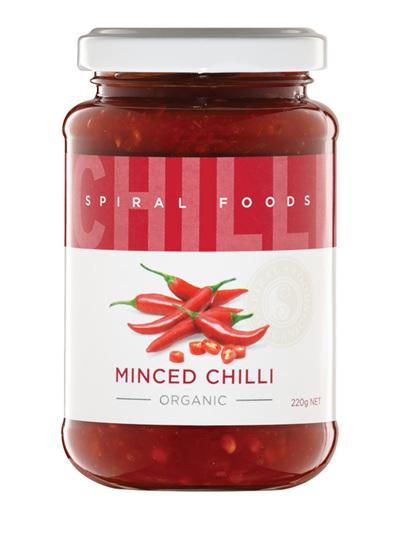 Organic Minced Chilli - 220g