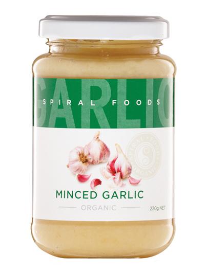 Organic Minced Garlic - 220g